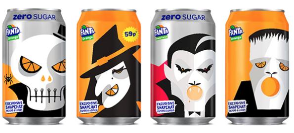 Fanta Halloween Cans